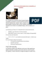 Factores Que Intervienen en El Desarrollo Humano