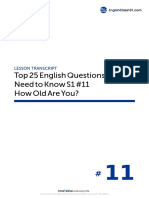 11 How Old Are You - Script
