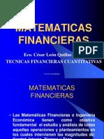 Técnicas Financieras Cuantitativas