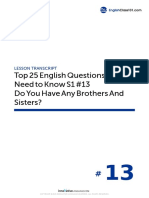 13 Do You Have Any Brothers and Sisters - Script