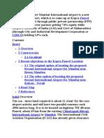 Proposed New Navi Mumbai International Airport is a New International Airport