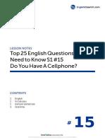 15 Do You Have a Cellphone