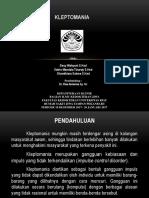 Ppt Referat Jiwa (Kleptomania) 1