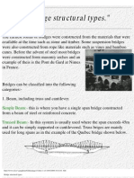 Bridge Structural Types.