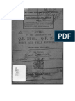 1917 British Army Notes on Ammunition for Q.f. 13 PR and 18PR Horse and Field Equipment