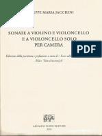 Jacchini cello sonatas
