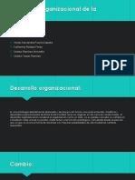 Desarrollo Organizacional de La Institución
