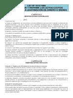 Ley Nº 1015-1996 - De Lavado de Dinero