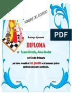 Diploma Ajedrez