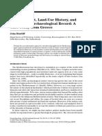 Bintliff, John - Human Impact, Land-Use History, And