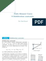 FEM - 9 Multifreedom Constraints