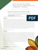 IInfluencia Del Tipo de Cacao en Las Caracteristicas Del Fermento