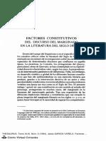 Factores Constitutivos Del Discurso Marginal en El s de Oro