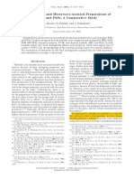 Kerner2001 Sonochemical and Microwave-Assisted Preparations of PbTe and PbSe. a Comparative Study