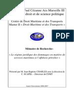 Le Régime Juridique Des Dommages en Matière de Services Maritimes