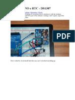Arduino Uno e Rtc - Ds1307