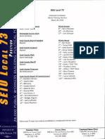 SEIU Local 73 Endorsments 2018 Primary