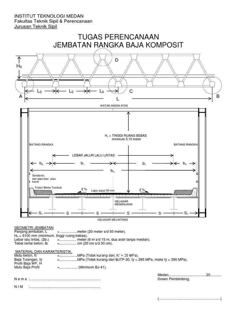 Tugas perencanaan jembatan bajapdf ccuart Gallery