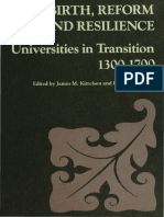 REBIRTH, REFORM, And RESILIENCE - Universities in Transition 1300-1700 (Ohio State University Press 1984)