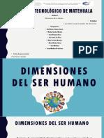 dimensiones del ser humano
