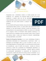 Presentación Del Curso Diseño de Proyectos Sociales