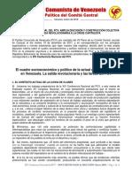 Xiv Conferencia Nacional Del Pcv Documento Base de Discusic3b3n Enero 20181