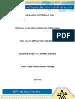 Evidencia 1 Analisis DOFA Sectores Economicos