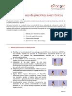 Instructivo de Uso de Precintos Electrónicos - Operadores