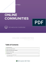 Online Communities Technology Overview