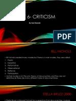 Post 6- Criticism Cuz