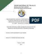 Plan de Monitoreo, Asesoría y Supervisión Pedagógica Mejorar Desempeño Docente -Secundaria