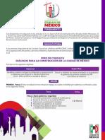 Convocatoria Ciudad de Mexico