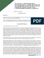 Louis Barok Biraogo vs the Philippine Truth Commission SEPARATE OPINION BERSAMIN J
