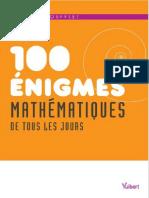 100 enigmes mathematiques