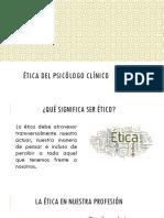 Ética Del Psicólogo Clínico