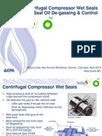 Centrifugal Compressor Wet Seals RETROFIT_Seal Oil de-gassing & Control Better Option_BP