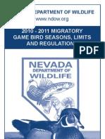 2010 - 2011 Migratory Game Bird Seasons, Limits and Regulations