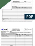 SCIPS-ST-AC-09F Lista de Puntos Pendientes