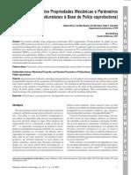 Correlação Entre Propriedades Mecânicas e Parâmetros