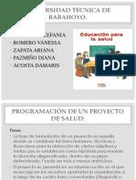 Diapositivas de Educacion Para La Salud