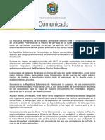 COMUNICADO DE LA REPÚBLICA BOLIVARIANA DE VENEZUELA SOBRE LA CORTE PENAL INTERNACIONAL
