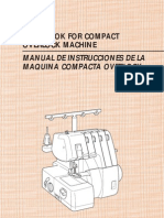 Brother Serger Manual (Handbook for compact overlock machine)