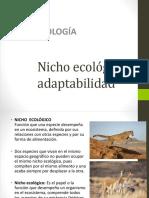 Nicho Ecológico y Adaptabilidad