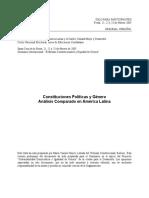 Constituciones Politicas y Genero Derecho Comparado
