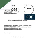 CONPES 3649 de 2010 Política Nacional de Servicio al Ciudadano.pdf