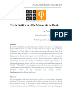 Teoría Política en El de Monarchia de Dante