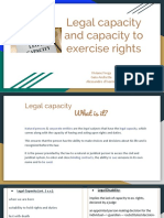Legal Capacity and Capacity to Exercise Rights