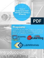 2.- Comparación de E-learning, B- leaning y M-leaning
