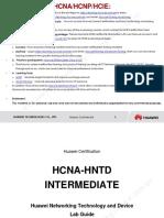 HCNA-HNTD Intermediate Lab Guide V2.2