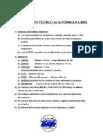Reglamento Técnico de La Formula Libre 2018